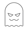 ghost thin line icon horror and character horror vector image vector image