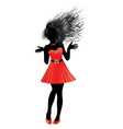 Girl in red dress21 vector image vector image