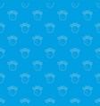 globe pattern seamless blue vector image vector image