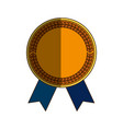 gold award ribbon vector image