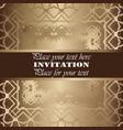 golden invitation vintage floral pattern vector image vector image