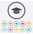 Graduation cap sign icon Education symbol