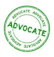 grunge green advocate word round rubber seal