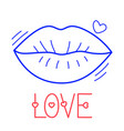 Hand draw love lip icon in doodle style for your