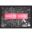 hand drawn education on chalkboardback to school vector image vector image