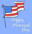 happy memorial day with flag design vector image