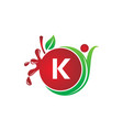 health fruit juice initial k vector image vector image