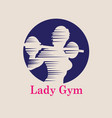 lady gym logo vector image vector image