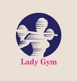 lady gym logo vector image