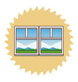 landscape trough window vector image vector image