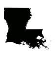 louisiana la state border usa map solid vector image vector image