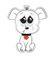 loving dog vector image