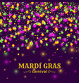 mardi gras carnival background with light lamps vector image vector image