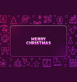 merry christmas colorful frame in outline vector image vector image