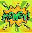 money word comic book pop art vector image vector image
