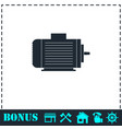motor icon flat vector image vector image