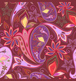 paisley and butterflies - seamless pattern vector image