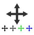quadro arrows flat icon vector image vector image