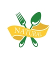 Restaurant icon depicting natural food vector image vector image