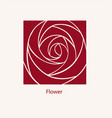 Rose label abstract design cosmetics logotype vector image