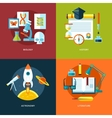 school and education icons set for web design and vector image vector image