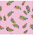 seamless pattern with doodle leaves vector image vector image