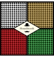 set houndstooth check patterns vector image