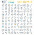 set line icons car repair vector image vector image
