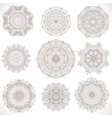 Set Mandalas Round Ornament Pattern vector image vector image
