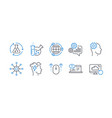 set science icons such as cogwheel swipe up vector image vector image