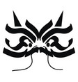 simple black dragon pattern on white background vector image vector image