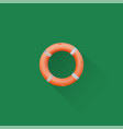simple life buoy icon on green background eps vector image