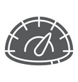 speedometer glyph icon speed and measurement car vector image