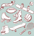 Sports set with balls and equipment vector image