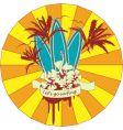 surfing emblem vector image vector image
