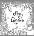 template with christmas icons vector image vector image