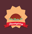 thanksgiving design icon vector image vector image