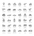 transport vehicle and delivery elements vector image