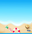 travel this summer vacation with the sea and beaut vector image
