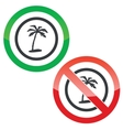 Vacation permission signs vector image vector image
