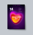 valentines day party poster mockup vector image