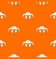 viking helmet classic pattern orange vector image vector image