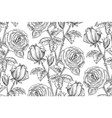 vintage floral backgrounds vector image vector image