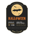 Vintage Halloween invitation with flying bats vector image vector image