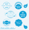 water labels set vector image vector image