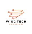 wing tech logo icon vector image vector image