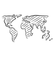 World map sketch vector image vector image