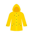 yellow raincoat waterproclothes vector image vector image