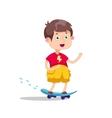 Skateboarding boyHappy vector image