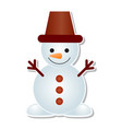 snowman icon winter christmas character vector image